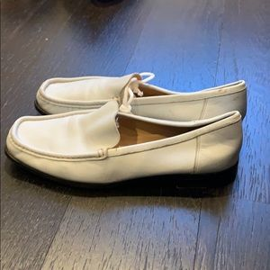 White leather loafers - bally